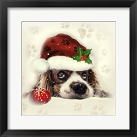 Framed Christmas Puppy