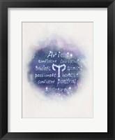 Framed Starlight Astology Aries