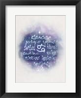 Framed Starlight Astology Cancer
