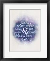 Framed Starlight Astology Leo