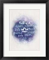 Framed Starlight Astology Libra