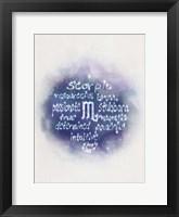 Framed Starlight Astology Scorpio