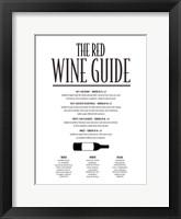 Framed Red Wine Guide