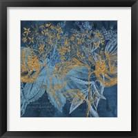 Framed Teal Garden Summer