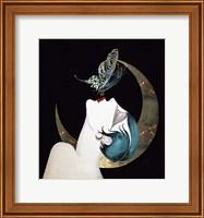 Framed Butterfly Kiss Art Deco Woman