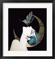 Framed Butterfly Kiss Art Deco Woman