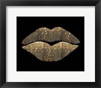 Framed Golden Motes Kiss