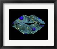 Framed Peacock Kiss