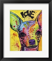 Framed Chihuahua Drip Love