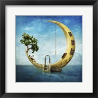 Framed Home Sweet Moon