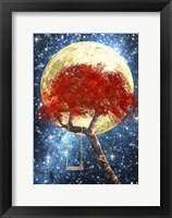 Framed Swing Under a Golden Moonlight