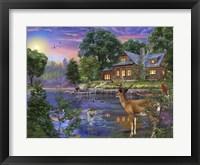 Framed White Tail Deer Lakehouse