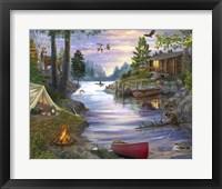 Framed Cabin Lake