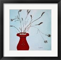 Framed Beaded Vase