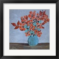 Framed Flowers on Farm Table