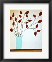 Framed Rich Red Leaves