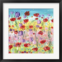 Framed Lilacs And Poppies