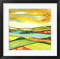 Framed Scottish Citrus Fields