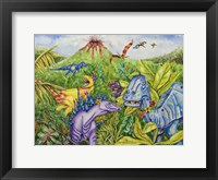 Framed Rainbow Dino's