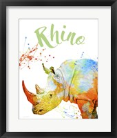 Framed Colorful Safari Animals B