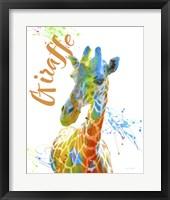 Framed Colorful Safari Animals D