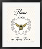 Framed Honey Bee A