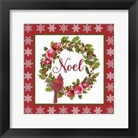 Framed Noel Wreath