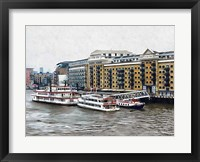 Framed Butler's Wharf Area London