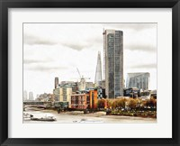 Framed South Bank River Thames