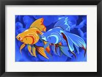 Framed Blue And Orange Fish