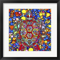 Framed Colorful Turtle