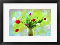 Framed Tulips Vase