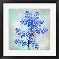 Framed Blue Leaves