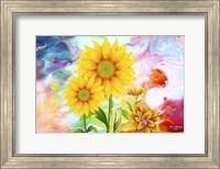 Framed Sunflowers Art