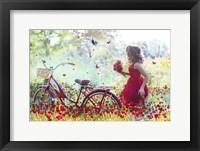 Framed Flowers Girl