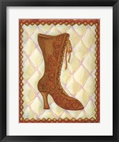 Framed Boots Brown With Curlicues