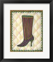 Framed Boots Striped With Paisley