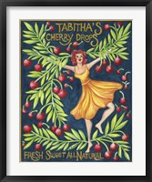 Framed Food Labels Cherry Drops