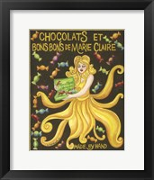 Framed Food Labels Chocolat