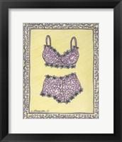 Framed Lingerie Pink Bra Panties