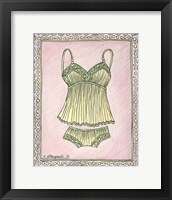 Framed Lingerie Yellow Cami Set
