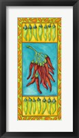 Framed Peppers with Pale Green