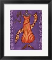 Framed Paris Gowns Orange Chiffon