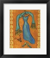Framed Paris Gowns Turk Blue