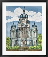 Framed Synagogue Lodz Exterior