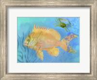 Framed Orange Fish Sea Life
