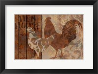 Framed Farm Friends Chicken and Rooster