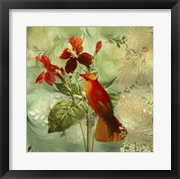 Framed Hummingbird Red