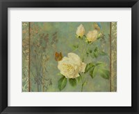 Framed Yellow Rose Painted
