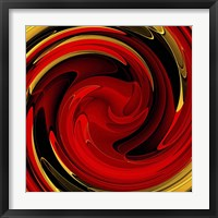 Framed Red Gold Swirl